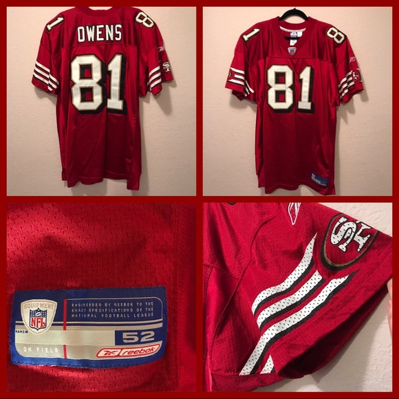 premium selection 059c7 128c8 NWOT. Authentic Owens #81 Jersey SF 49ers.